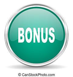 bonus blue glossy circle web icon