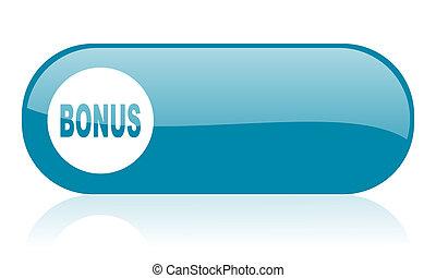 bonus blue web glossy icon