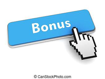 bonus button concept 3d illustration
