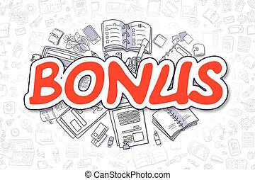 Bonus - Doodle Red Word. Business Concept. - Red Inscription...