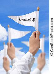 bonus, flagga