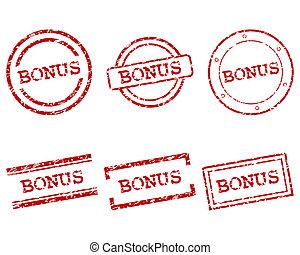 bonus, frimärken