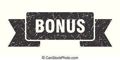 bonus grunge ribbon. bonus sign. bonus banner