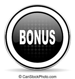 bonus icon, black chrome button