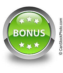 Bonus icon glossy green round button
