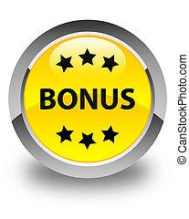 Bonus icon glossy yellow round button