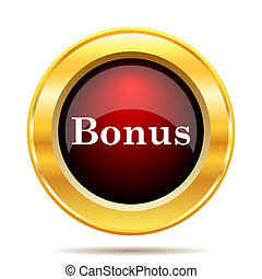 Bonus icon. Internet button on white background.
