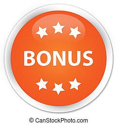 Bonus icon premium orange round button
