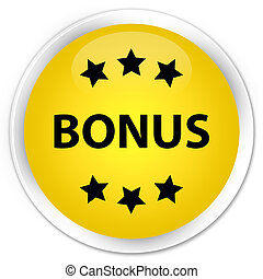 Bonus icon premium yellow round button