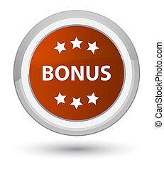 Bonus icon prime brown round button