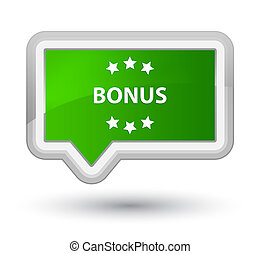 Bonus icon prime green banner button