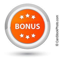 Bonus icon prime orange round button