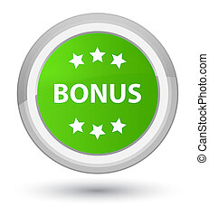 Bonus icon prime soft green round button