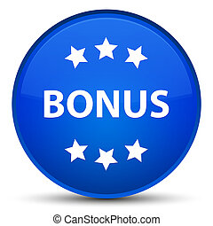 Bonus icon special blue round button