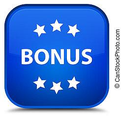 Bonus icon special blue square button