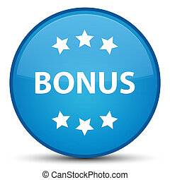 Bonus icon special cyan blue round button