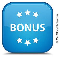 Bonus icon special cyan blue square button