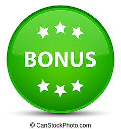 Bonus icon special green round button