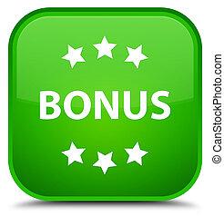 Bonus icon special green square button
