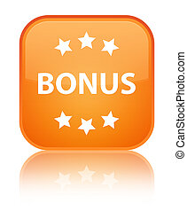 Bonus icon special orange square button