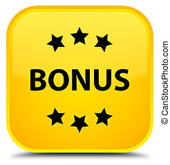 Bonus icon special yellow square button