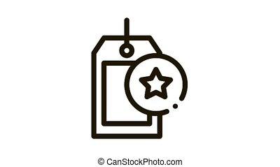 Bonus Label Concept Icon Animation. black Bonus Label Concept animated icon on white background