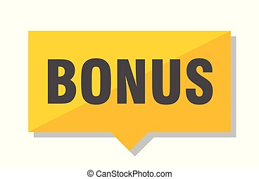 bonus price tag - bonus yellow square price tag
