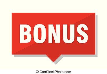 bonus red tag - bonus red square price tag