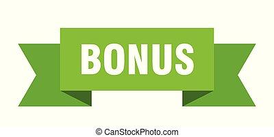 bonus ribbon. bonus isolated sign. bonus banner