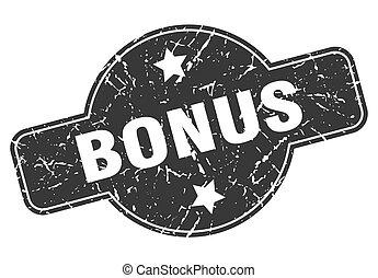 bonus round grunge isolated stamp
