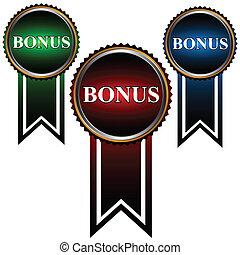 bonus, sätta, tre, ikonen