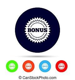 Bonus sign icon. Special offer star symbol.