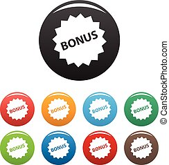 Bonus sign icons set vector