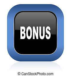 bonus square glossy icon