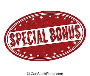 bonus, stämpel, speciell