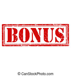 Grunge rubber stamp with word Bonus, vector illustration
