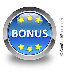 Bonus (stars) icon glossy blue round button