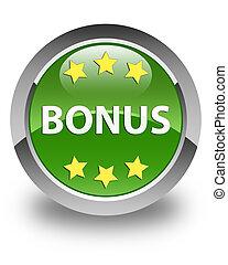 Bonus (stars) icon glossy soft green round button