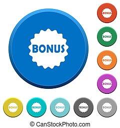 Bonus sticker beveled buttons