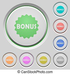 Bonus sticker push buttons