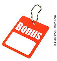 Bonus tag with copy space