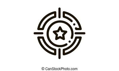 Bonus Target animated icon on white background