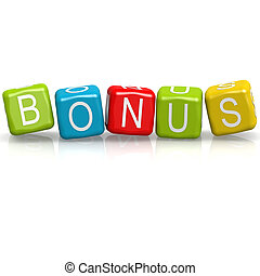 bonus, terning, glose