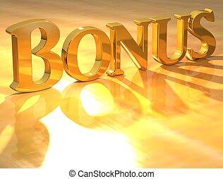 bonus, text, guld, 3