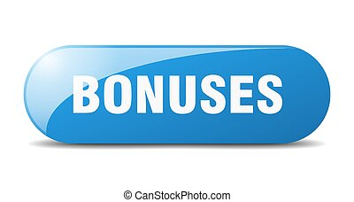 bonuses button. sticker. banner. rounded glass sign