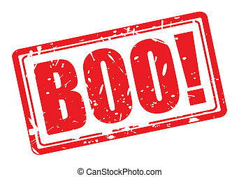BOO red stamp text