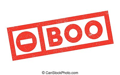 Boo rubber stamp