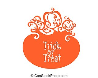 Boo Trick Or Treat card design - Card background design with...