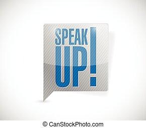 boodschap, bel, op, illustratie, spreken