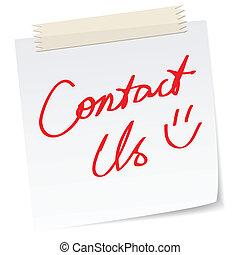 boodschap, contacteer ons